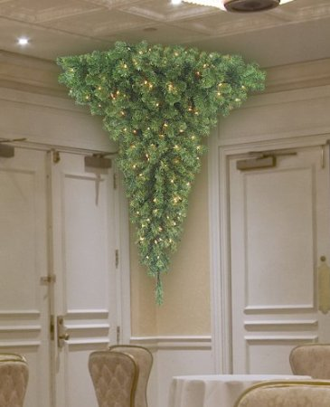 Trim Half Upside Down Corner Christmas Tree