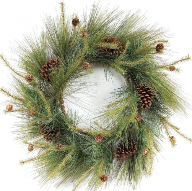 Melrose Mixed Short and Long Needle Wispy Pine Wreath