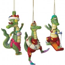 Alligator Fun Christmas Ornaments