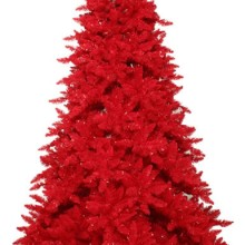 7.5' Pre-Lit Slim Red Ashley Spruce Artificial Christmas Tree