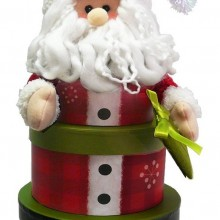 Santa Claus Stacking Tower Christmas Holiday Gift Basket
