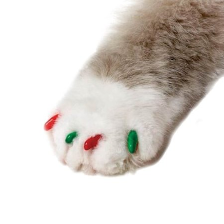 Feline Soft Claws 40-Pack Pet Holiday Colors Nail Cap Kit