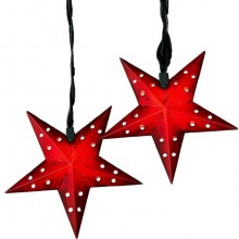 5-Point Red Star String Light Set