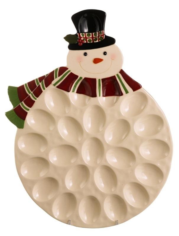 Snowman Egg Plate