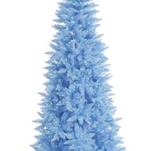 5.5' Pre-Lit Sky Blue Fir Slim Artificial Christmas Tree