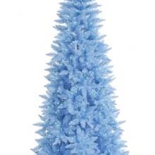 5.5' Pre-Lit Sky Blue Fir Slim Artificial Christmas Tree