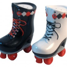 Roller Skate Ceramic Salt and Pepper Shakers