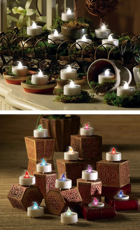 12 Piece LED Tealights Set
