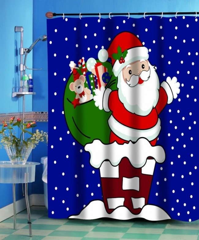 Christmas Fabric Shower Curtain