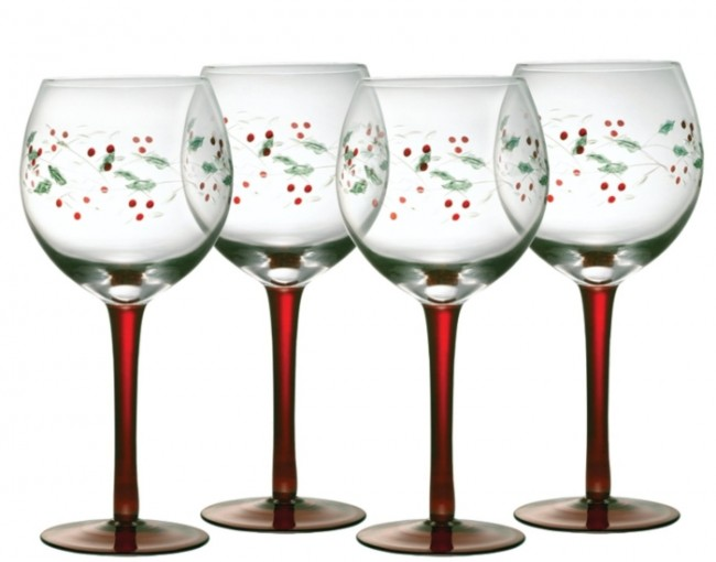 Winterberry 13-Ounce Glass Goblets