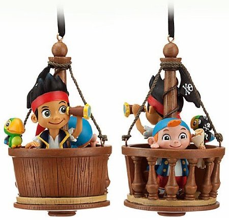 Disney Store Jake and the Neverland/Never Land Pirates Sketchbook Ornament Christmas Tree Decoration