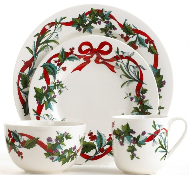Martha Stewart Holiday Garden 4 Pc Place Setting
