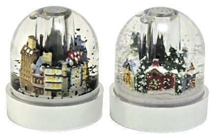 Salt and Pepper Shaker Snow Globe Set Snow Globe