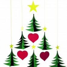 Flensted Mobiles Nursery Mobiles, 6 Christmas Trees