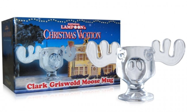 Lampoons Christmas Vacation Glass Moose Mug