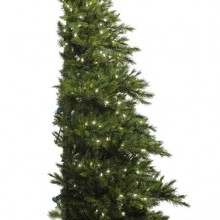 "Vickerman 03466 - 6.5' x 52"" Westbrook Pine Half Tree 400 Clear Lights Christmas Tree"