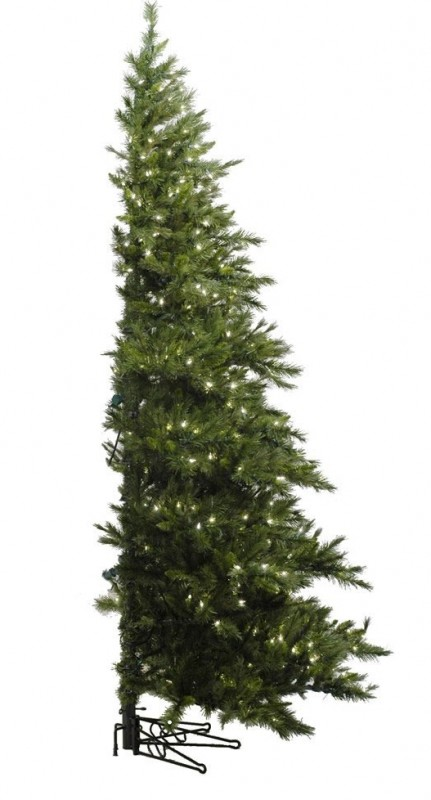 "Vickerman 03466 - 6.5' x 52"" Westbrook Pine Half Tree 400 Clear Lights Christmas Tree"