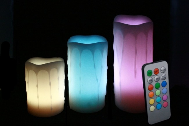 Effect Remote Controlled Multi Color Changing Flameless