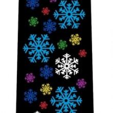 Men's Snowflakes Tie