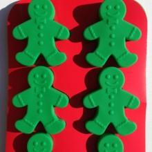 Silicone GINGERBREAD MAN Holiday Christmas Bakeware