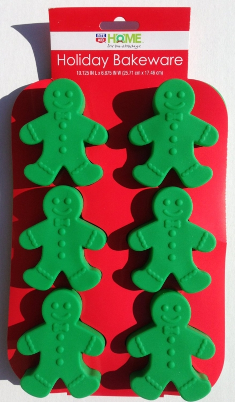Silicone GINGERBREAD MAN Holiday Christmas Bakeware