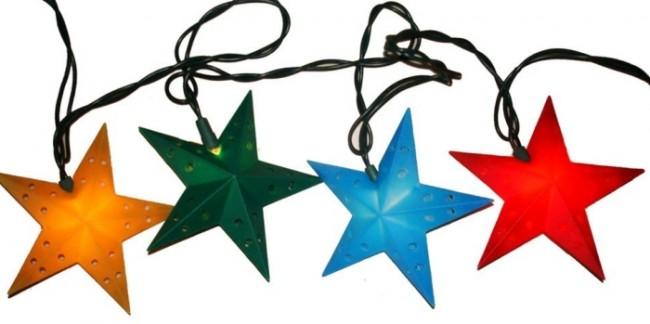 Indoor/Outdoor UL 10-Light Color Star Light Set