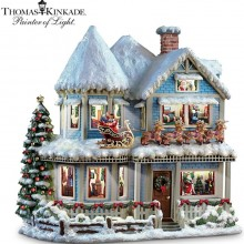 Thomas Kinkade 'Twas The Night Before Christmas Collectible Story House