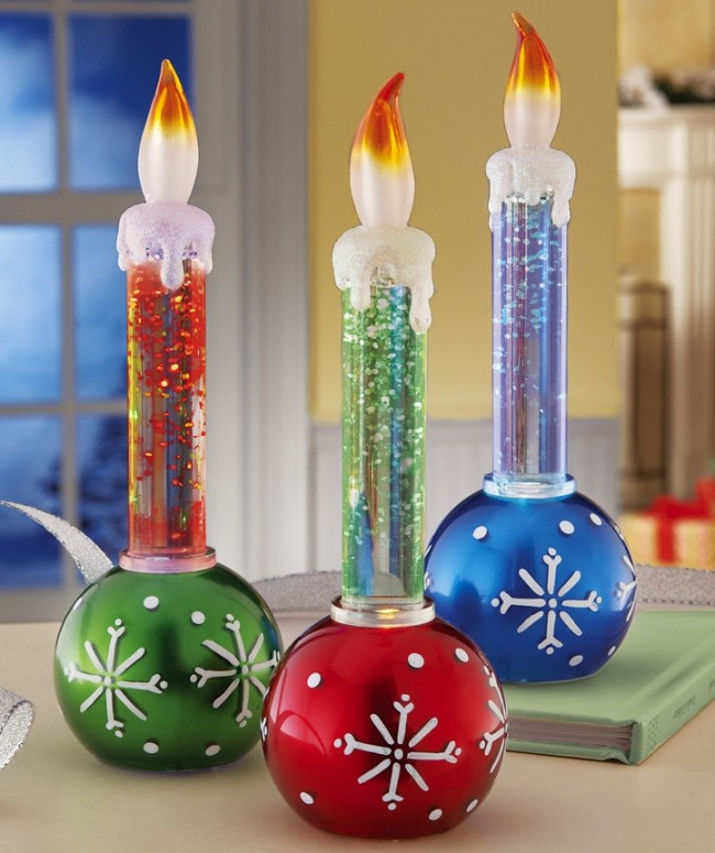 Holiday Ornaments LED Candle Set