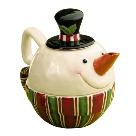 Snocountry Top Hat Snowman Stacking Tea