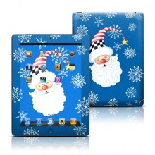 Santa Snowflake Design Protective Decal Skin Sticker for Apple iPad 3