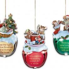 Jingle Bells Mouse Christmas Ornaments