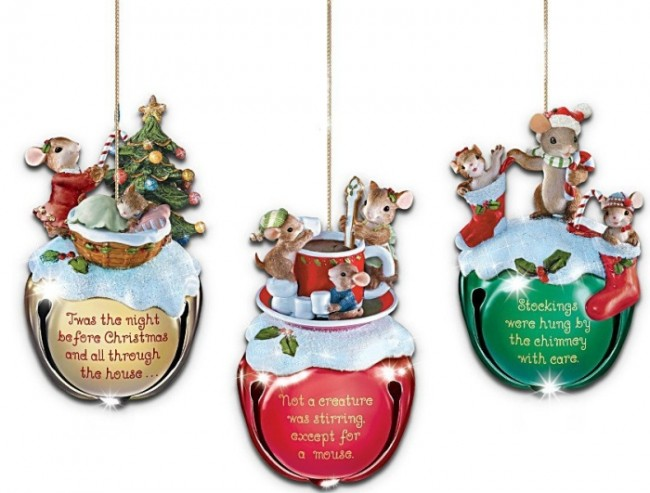 Jingle Bells Mouse Christmas Ornaments