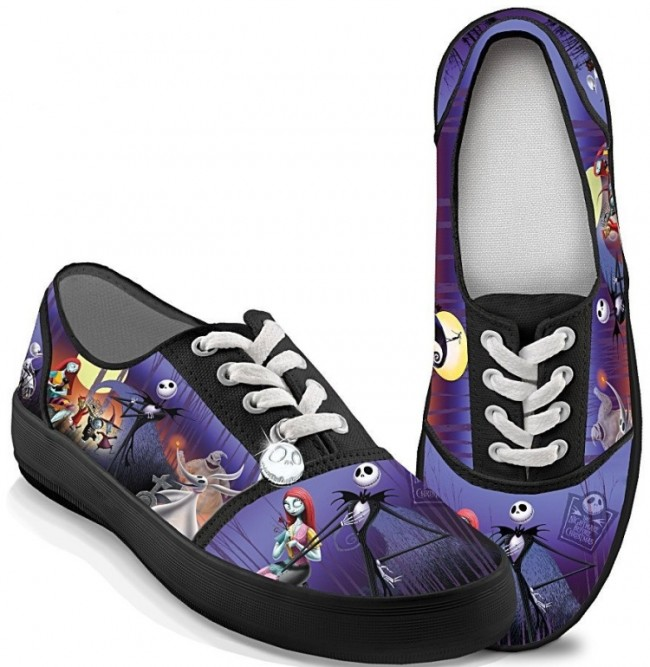 Christmas Canvas Art Women's Shoes