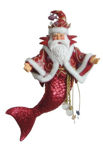 LDecember Diamonds King Neptune Merman Ornament