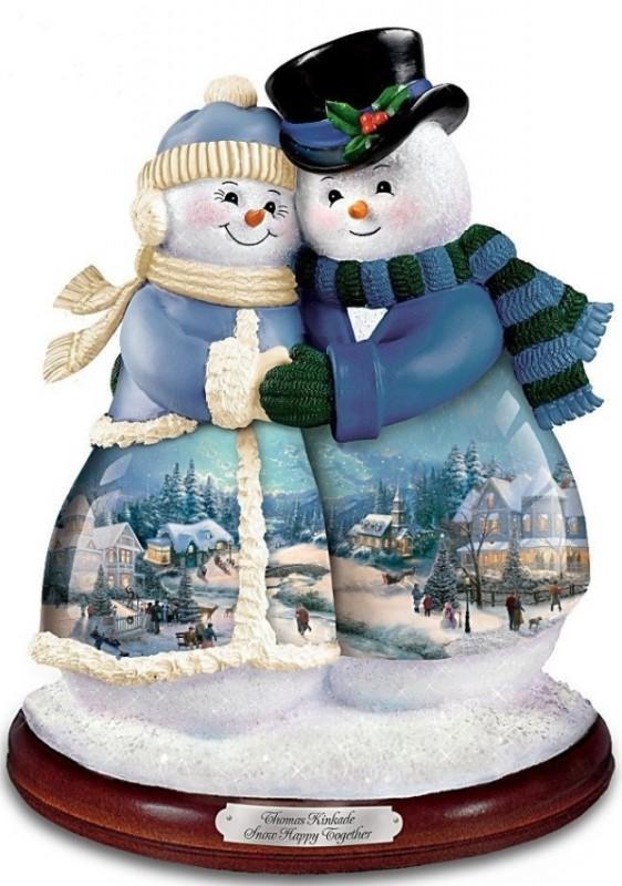 Musical Snowman Figurine