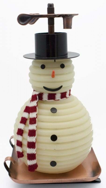 100-Hour Snowman Candle