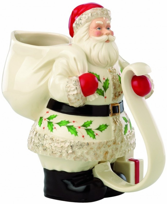 Holiday Santa Pitcher
