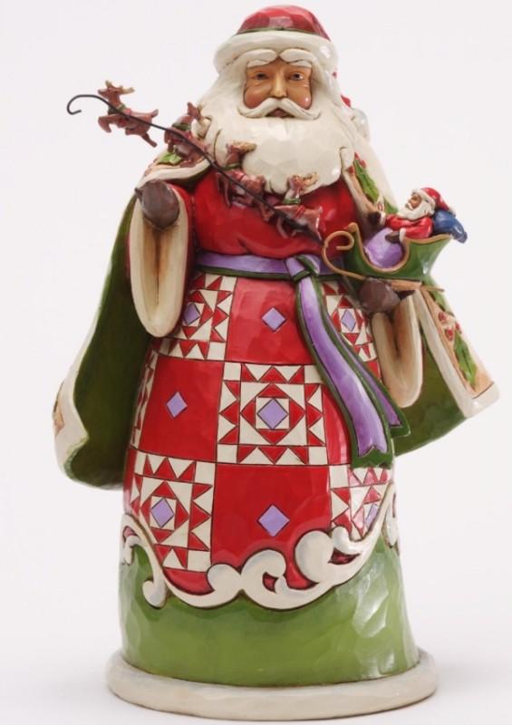 Jim Shore Santa holding Sleigh 2013