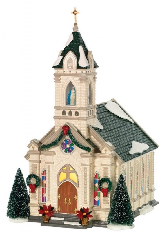 Snow Village Our Lady Of Grace Church