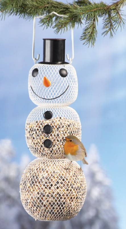 Snowman Bird Feeder Decoration