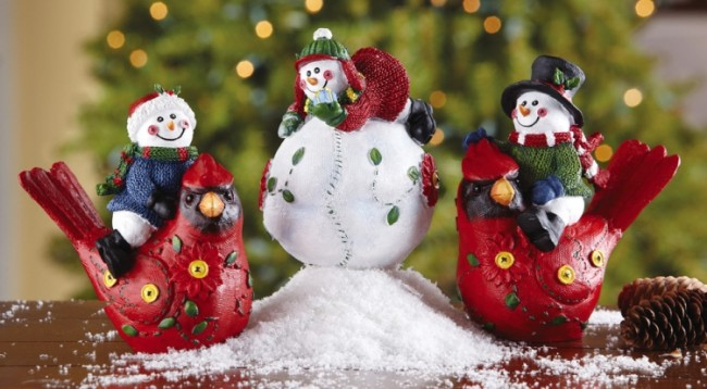 Snowmen Sitters Holiday Decorations
