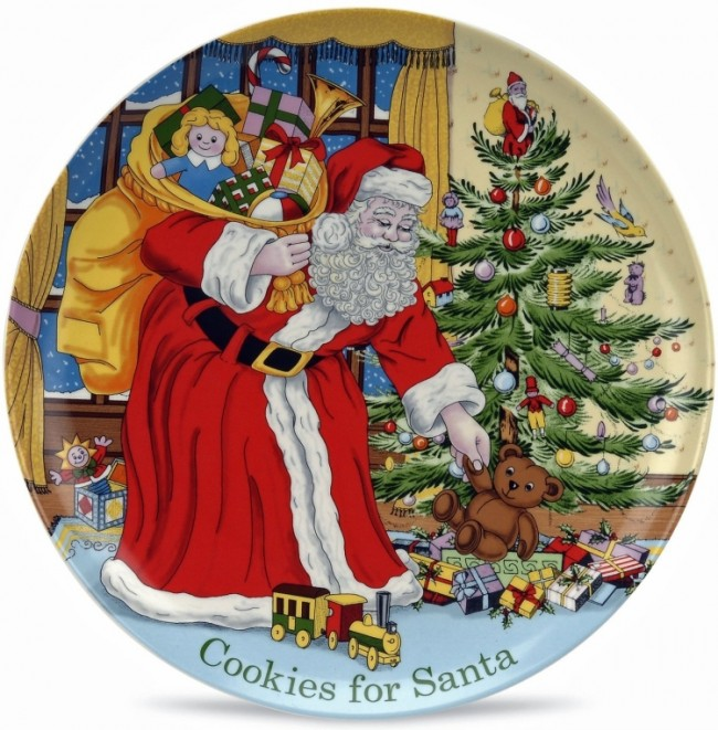 Spode Christmas Tree Cookies for Santa Plate
