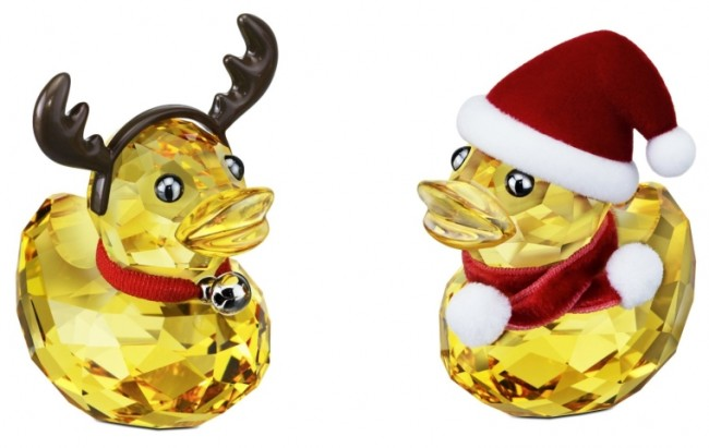 Swarovski Happy Duck Santa and Reindeer