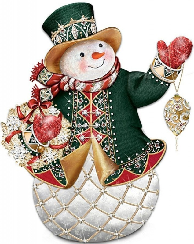 The Glistening Snowman Figurine