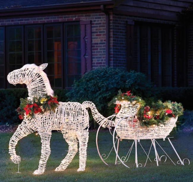 The Lighted Holiday Horse Drawn Sleigh