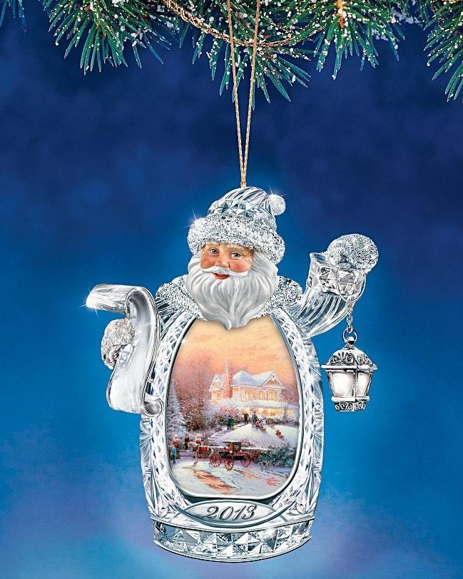 Thomas Kinkade Crystal Ornament Christmas