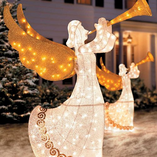 Animated Angels with Horn Christmas Decoration