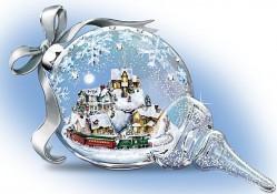 Christmas Hand-Blown Glass Sculpture