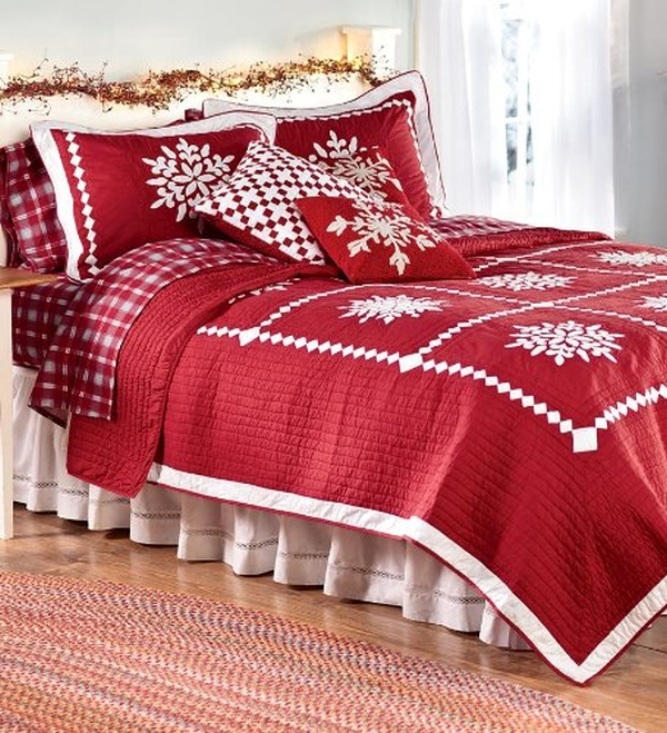 Crystal Snowflake Cotton FullQueen Quilt Set