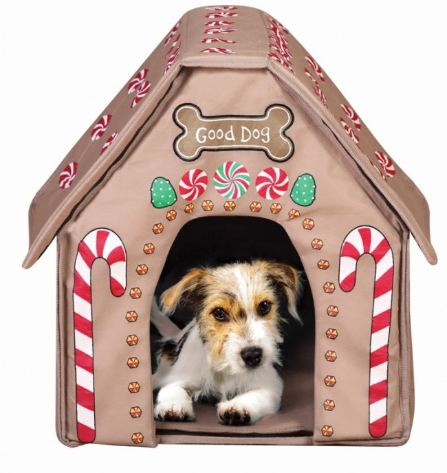 Holiday Gingerbread Dog House